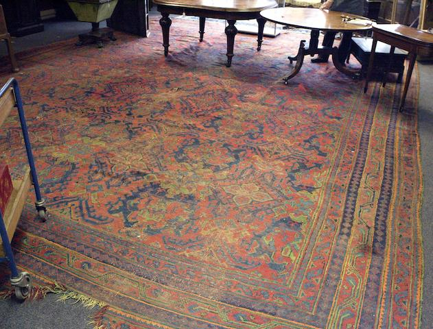A large Turkey carpet 570cm x 491cm