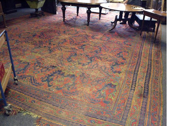 A large Turkey carpet 570cm x 491cm
