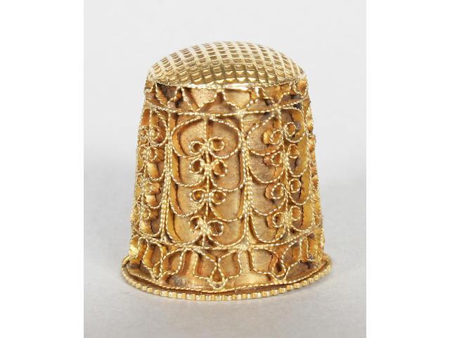 A gold thimble