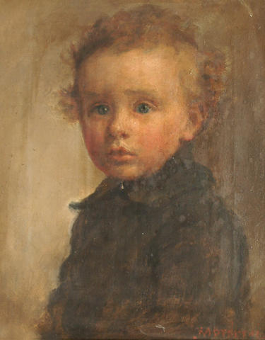 Joseph Mordecai (British 1851-1940) Portrait of a young boy.