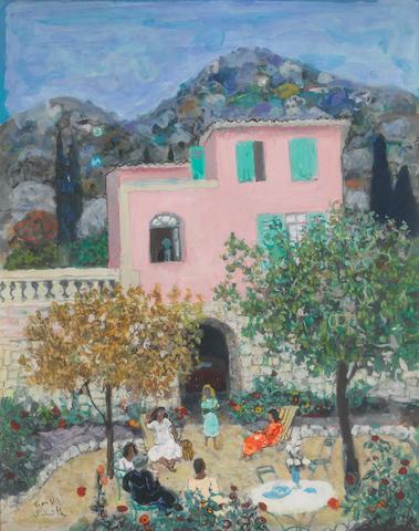 Francis Smith (Portuguese, 1881-1961) Villa a Menton 50 x 40 cm (19 5/8 x 15 3/4 in)