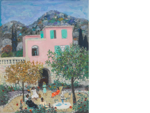 Francis Smith Villa A Menton 50 x 40 cm. (19 5/8 x 15 3/4 in.)