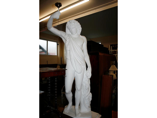 A large plaster statue of Jason,