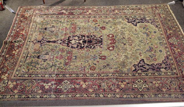 An Isphahan prayer rug