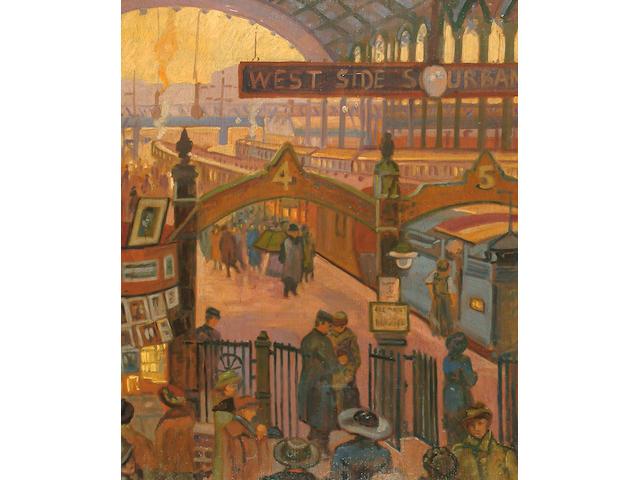 Marjorie Sherlock (British, 1897-1973) Liverpool Street Station