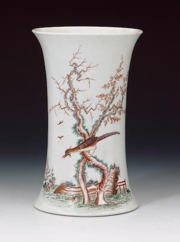 A rare early Worcester vase circa 1754