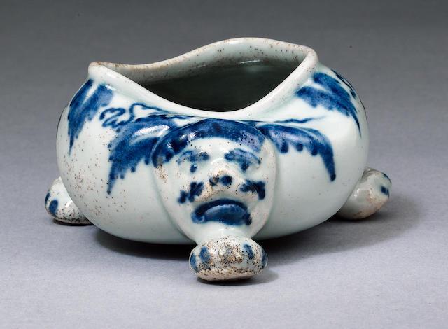 A very rare Limehouse salt circa 1746-48