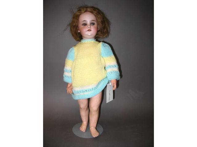 Simon & Halbig 1039 bisque head walking doll, circa 1910