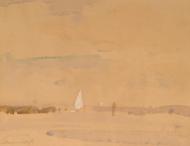 Edward Seago (British, 1910-1974) A Norfolk waterway.