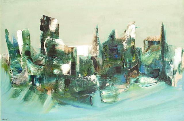 Kit Barker (British, 1916-1988) Abstract Landscape.
