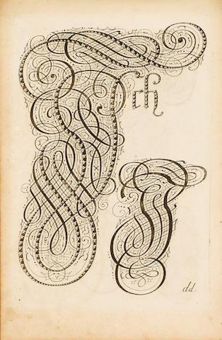 CALLIGRAPHY BAURENFEIND (MICHAEL) Der zierlichen  Schreib-Kunst vollkommener Wiederherstellung anderer Theil