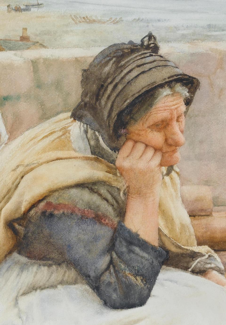 Walter Langley, RI (British, 1852-1922) A Village Idyll 75 x 120.5 cm. (29 1/2 x 47 1/2 in.)