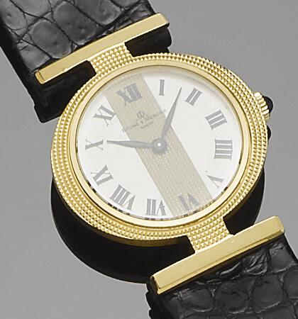 Baume & Mercier. An 18ct gold wristwatch1980's