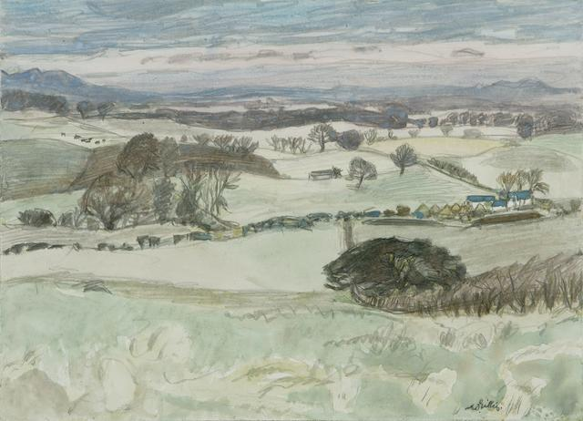 W G Gillies, Midlothian, watercolour