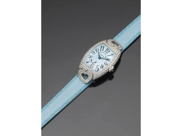 Frank Muller. An 18ct gold white gold diamond set wristwatchCoeur, No.8, 1750 S6 HJ