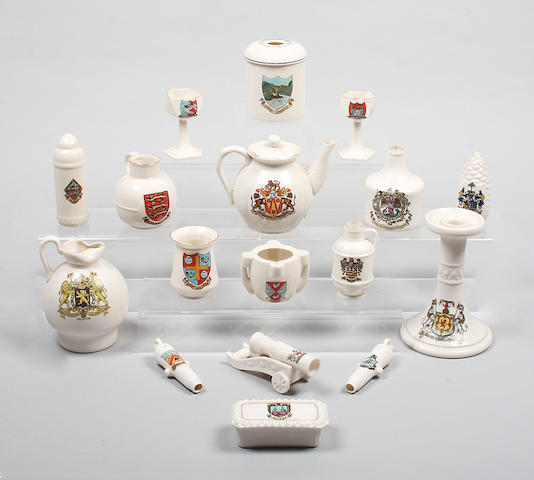 A quantity of Goss crested china