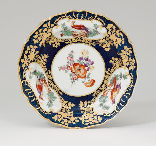 A Worcester plate circa 1770