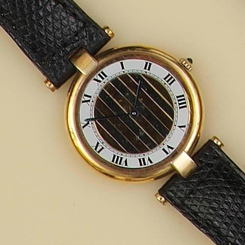 Must de Cartier: A gold plated wristwatch, 1990's
