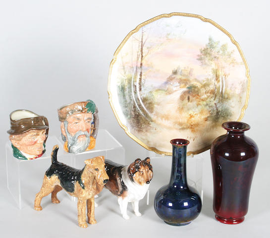 A selection of Doulton and Bernard Moore items