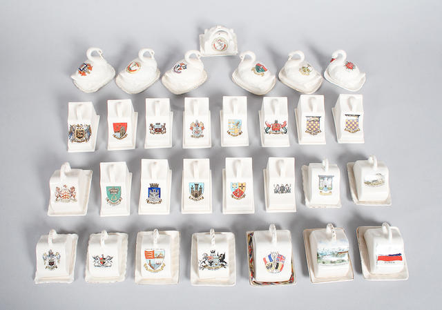 An assortment of miniature cheese dishes