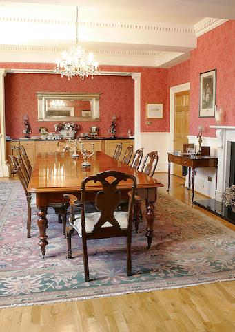 A large Victorian mahogany extending dining table