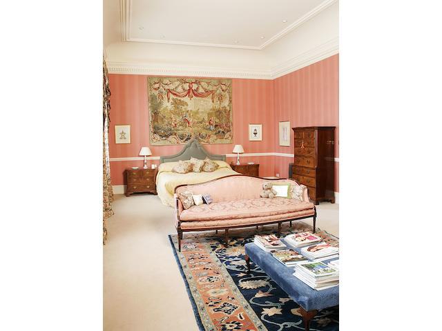 A George III style mahogany framed sofa