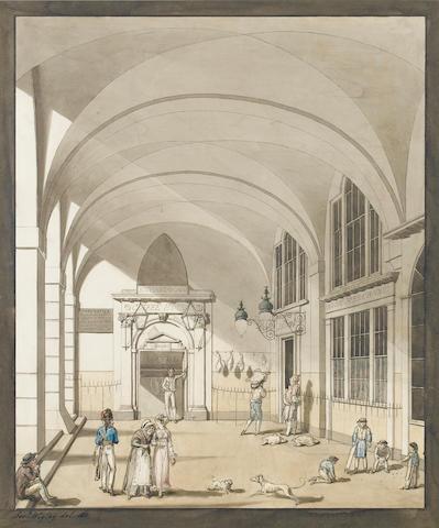 Joseph Wigley (British, fl.1811-1815) Richardson's Coffee House, Covent Garden 30 x 25 cm. (11 3/4 x 9 3/4 in.)