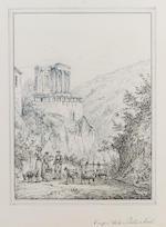 Antonio Senape (Italian, 1788-1850) Villa d'Este, Tivoli; Tempio della Sibilla, Tivoli 26.5 x 20.5 cm. (10 1/2 x 8 in.); 27 x 20.5 cm. (10 1/2 x 8 in.) (2)