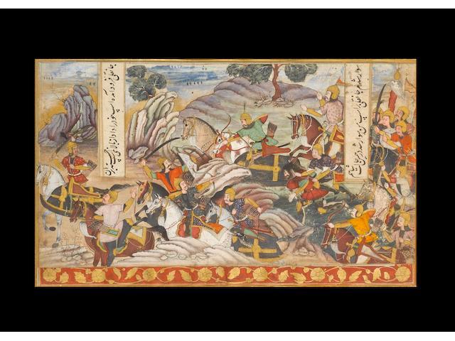 Warriors in battle, 17th Century