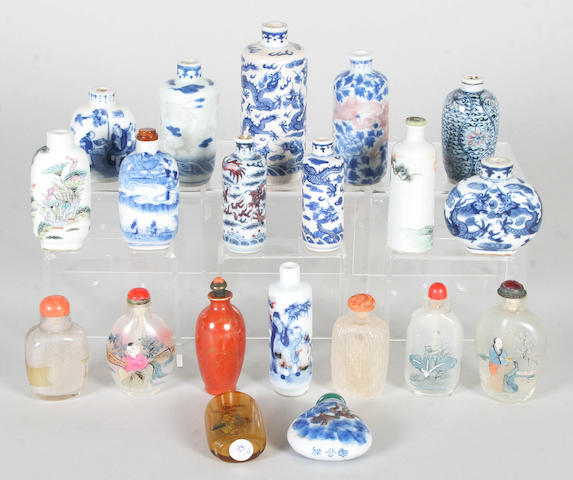 Twenty Chinese snuff bottles