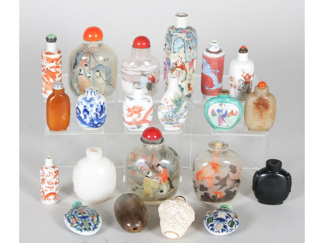 Twenty various Chinese snuff bottles