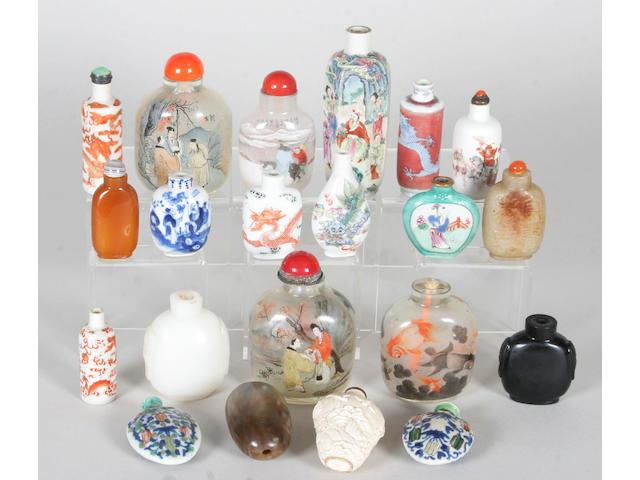 Twenty various Chinese snuff bottles