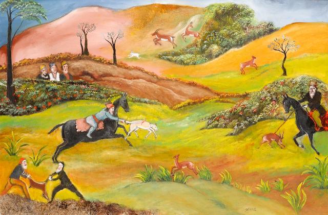(n/a) Tassaduque Sohail (Pakistan, born 1930) Hunting Scene,