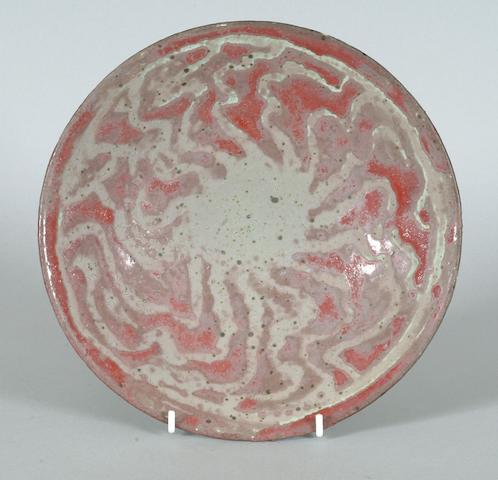 Peter Beard a shallow Bowl, 1986 Diameter 24.5cm (9 5/8in.)