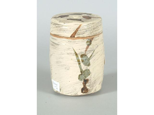 William Marshall  a lidded Pot Height 14.5cm (5 5/8in.)