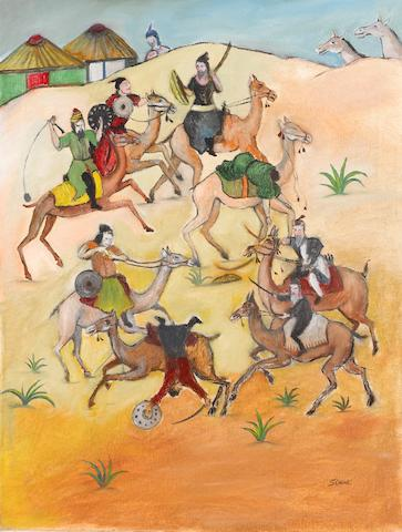 Tassuduque Sohail Battle between warriors on camels