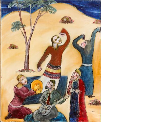 (n/a) Tassaduque Sohail (Pakistan, born 1930) Dancers and Musicians,