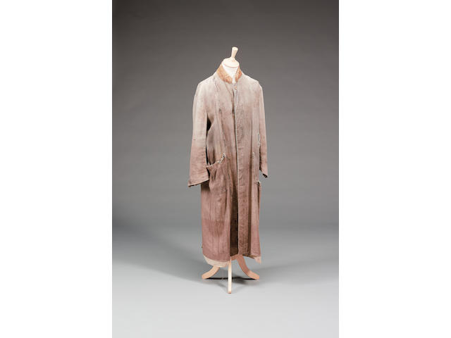 A grey linen overcoat, from Harry Potter and the Prisoner of Azkaban, as worn by Gary Oldman as Siru
