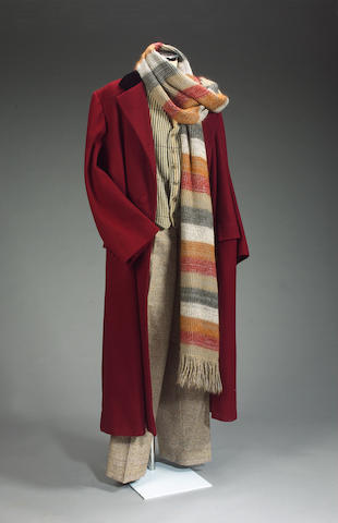 A complete outfit for Tom Baker as Dr. Who,