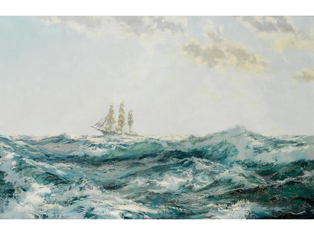Montague Dawson (British, 1895-1973) Sprinkled Foam 61 x 91.4cm. (24 x 36in.)