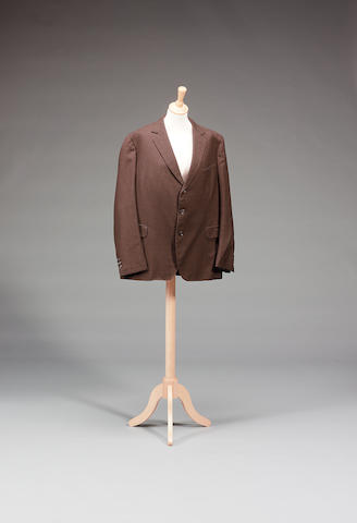 A brown pinstripe jacket, from The Saint, as worn by Roger Moore as The Saint,