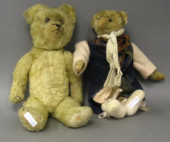 Teddy bear, possibly Bing, German circa 1909 2