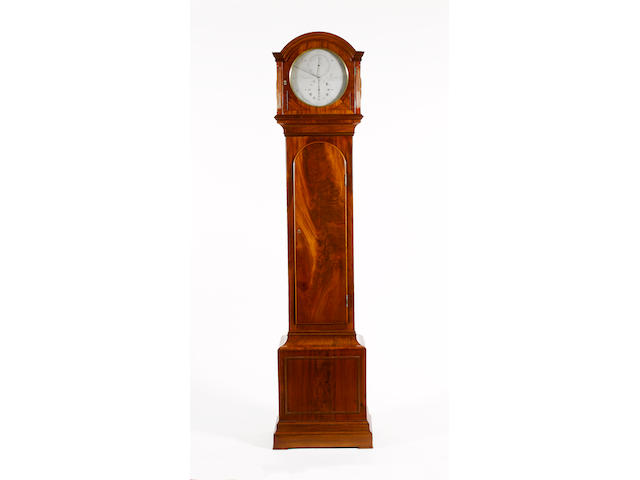An early 19th century mahogany longcase regulator clock J.P. Upjohn, London