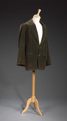 A green cord jacket, from Indian Jones and the Last Crusade, as worn by Sean Connery,