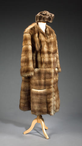 A Fur coat and hat used from the film On Her Majesty's Secret Service