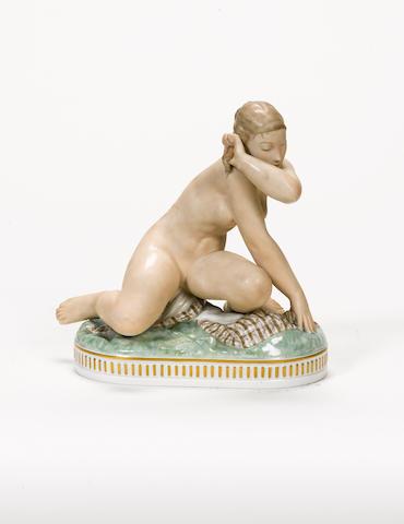 Royal Copenhagen A Pottery Figure of a Female Nude, circa 1930