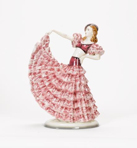 Goldscheider A Figure of a Dancing Girl, circa 1930