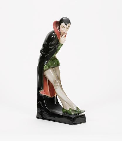 Josef Lorenzl for Goldscheider 'Mephistopheles' a Pottery Figure, circa 1930