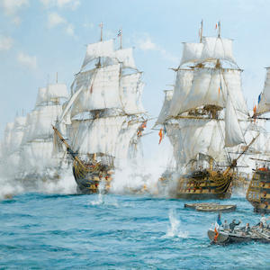 Montague Dawson (British, 1895-1973) Trafalgar; Victory at noon 101.6 x 127cm. (40 x 50in.)