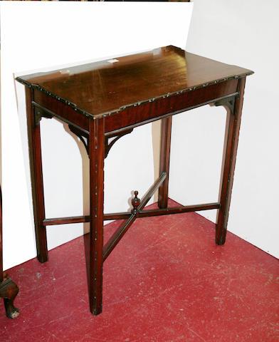 A 20th Century mahogany side table